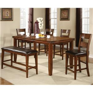 CM Figaro 6 Piece Counter Height Set