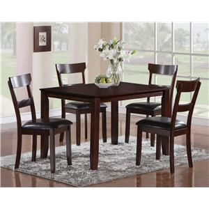 Crown Mark Henderson 5 Piece Dining Table Set