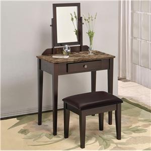 Crown Mark Iris Vanity Table & Stool