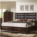 Crown Mark Jacob King Storage Bed - Item Number: B6515-K-HB+FB+Rail