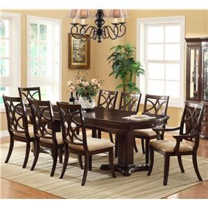 Crown Mark Catherine 9 Piece Table & Chair Set