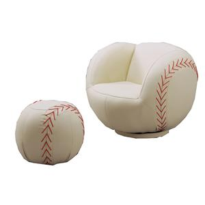 Crown Mark Kids Sport Chairs Baseball Chair & Ottoman