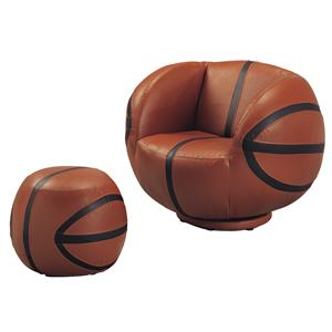 Crown Mark Kids Sport Chairs Basketball Chair & Ottoman