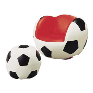 Crown Mark Kids Sport Chairs Soccer Chair & Ottoman