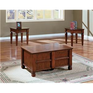 2313103634e Crown Mark Knoxville 3 Piece Cocktail Table Set