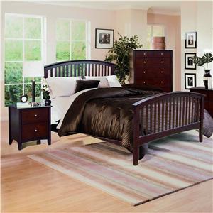 Crown Mark Lawson  Queen Slat Bed