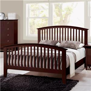 Crown Mark Lawson  Queen Slat Bed