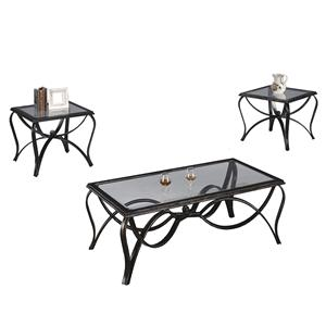 Crown Mark Monarch  Three Pack Occasional Table Set
