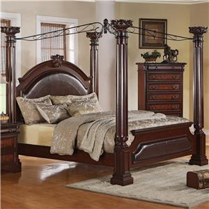 Crown Mark Neo Renaissance California King Poster Bed