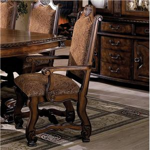 Crown Mark Neo Renaissance Dining Arm Chair