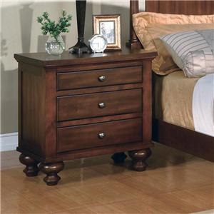 Crown Mark Sommer 3-Drawer Nightstand