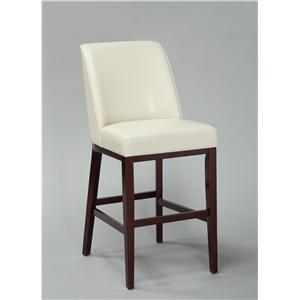 "Crown Mark Sondra - -829161581 SONDRA WHITE 44"" BAR STOOL"
