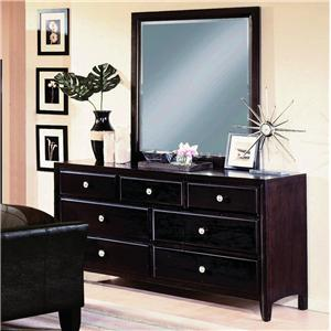 Crown Mark Tomas Dresser and Mirror Combo
