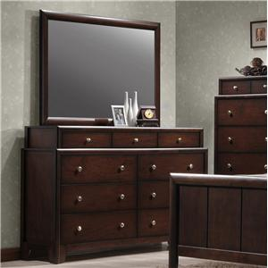 Crown Mark Essex Dresser and Mirror Combination
