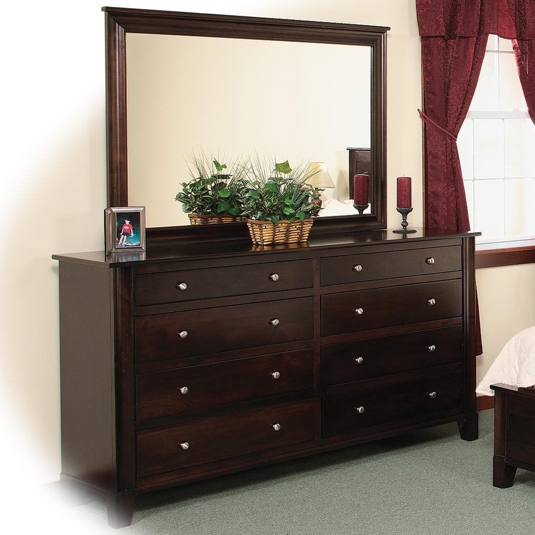 8 Drawer Double Dresser Amp Mirror W Slats By Daniel S