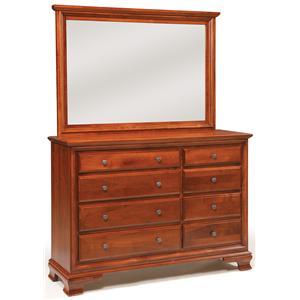 Daniel's Amish Amish Classic Triple Dresser & Mirror