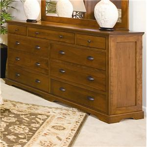 Daniel's Amish Amish Elegance 9-Drawer Double Dresser