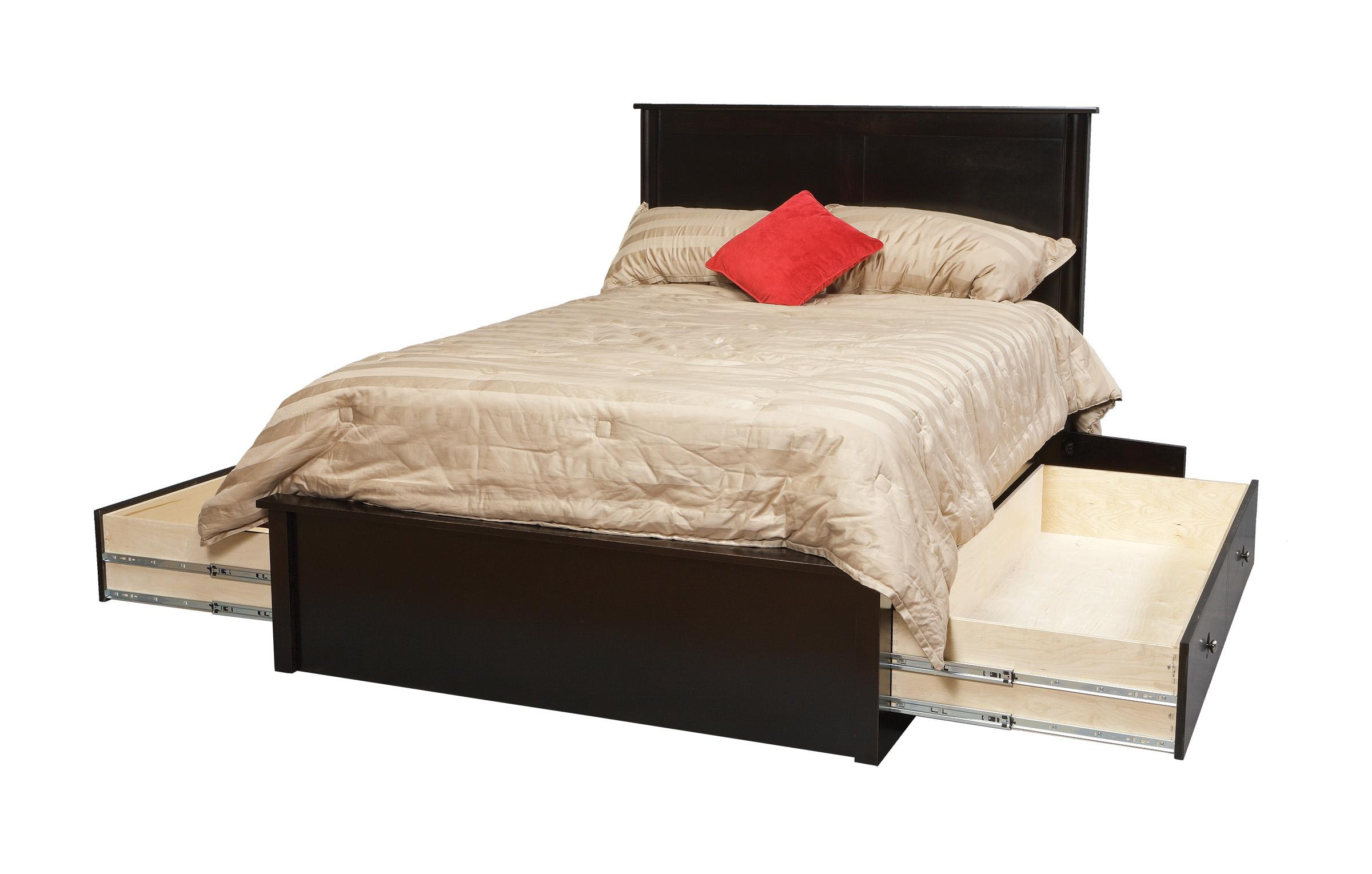 Queen Pedestal Bed W  Storage Drawers On Each Side