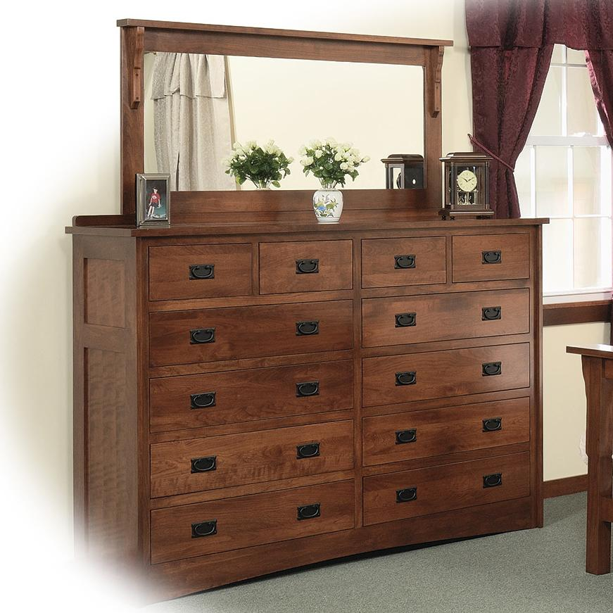 12 Drawer Solid Wood Double Dresser With 58 X 28 Landscape