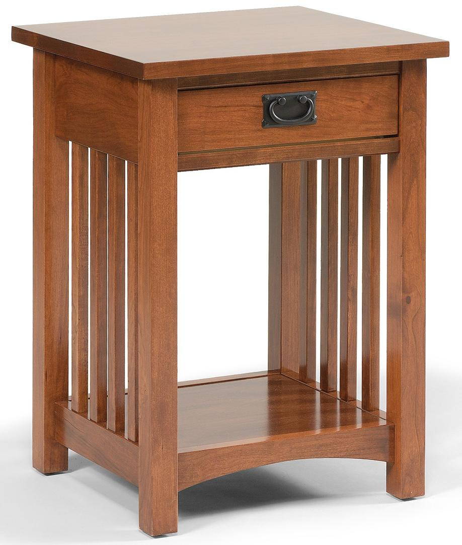 1 Drawer Mission Style Open Nightstand With 1 Shelf By