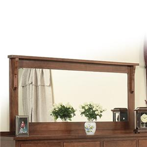 58 x 28 Landscape Mirror with Solid Wood Frame