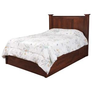 Queen Pedestal Bed W/ 60