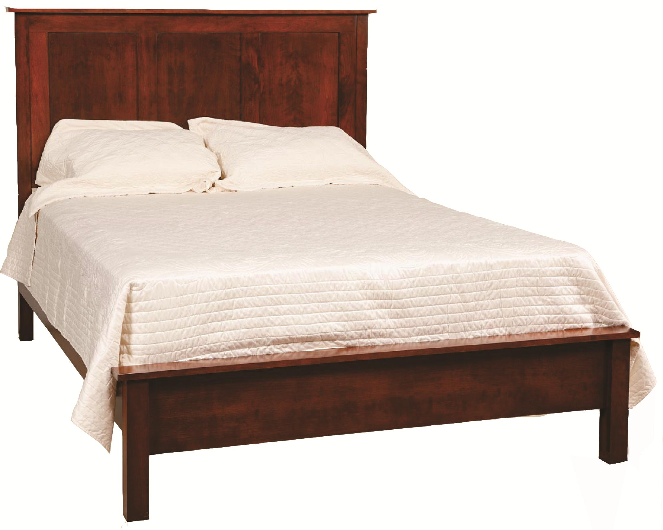 low profile bed frame king bed with low profile footboard by daniel s amish 29604