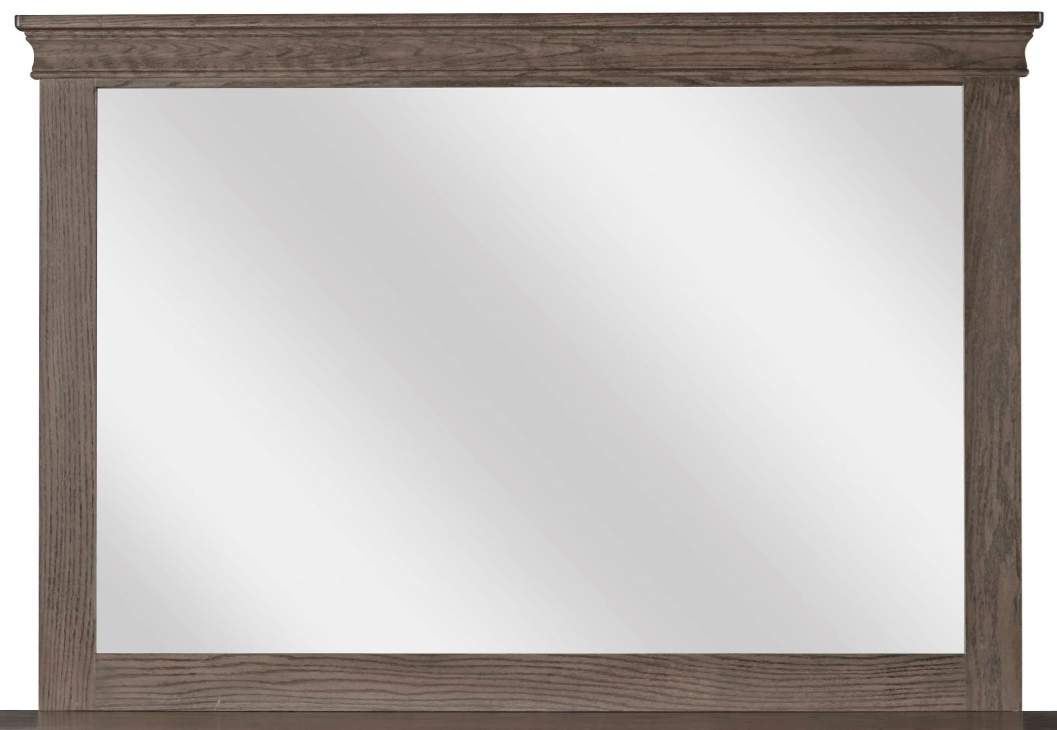 Tall Wide Mirror with Top Crown Molding by Daniel\'s Amish | Wolf and ...
