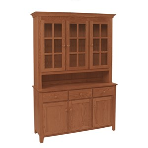Shaker Deluxe Hutch & Buffet with Touch Lighting