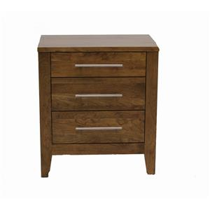 Daniel's Amish Nouveau Solid Cherry 3-Drawer Nightstand