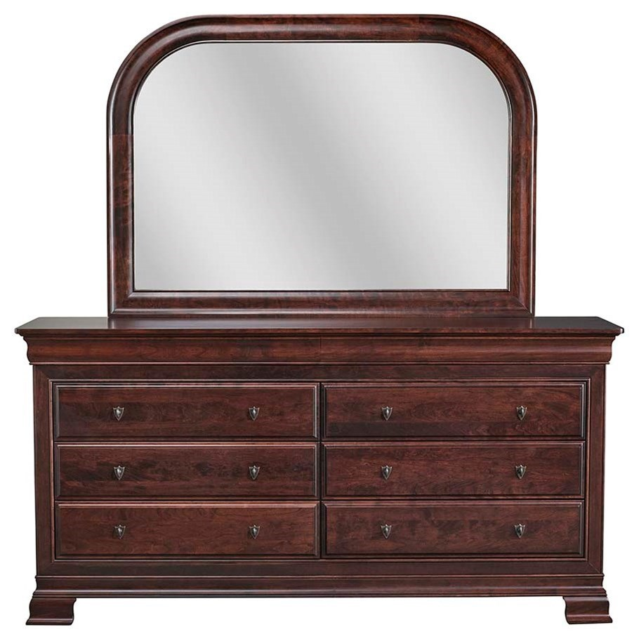 8 Drawer Solid Wood Dresser And Mirror Combo By Daniels Amish