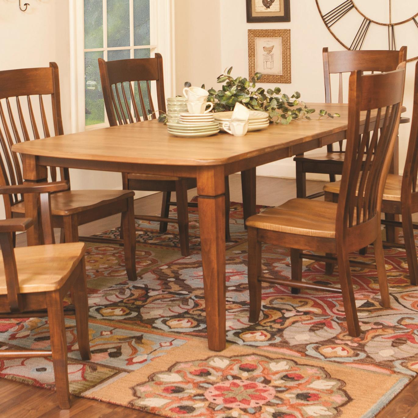 distressed rectangular dining table by daniel s amish wolf and distressed table