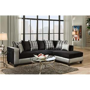 Delta Furniture Manufacturing 4124 Sectional Sofa