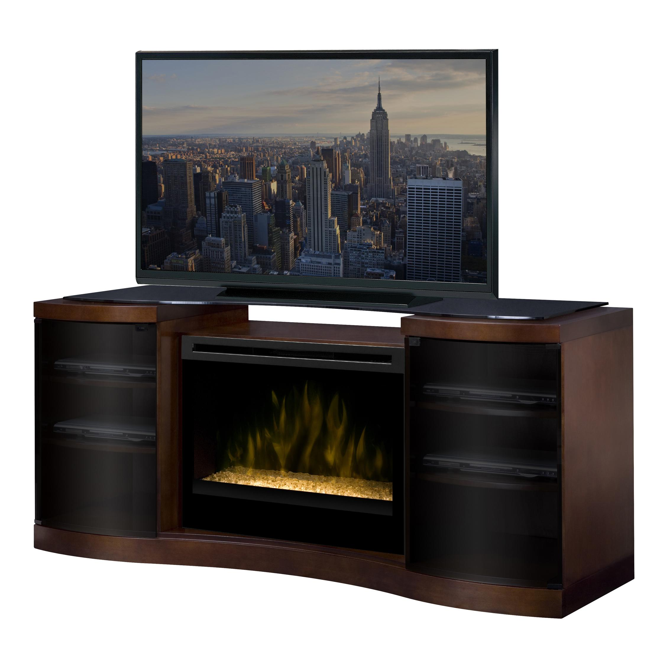 Media Console Cabinet With 33 Inch Electric Firebox By