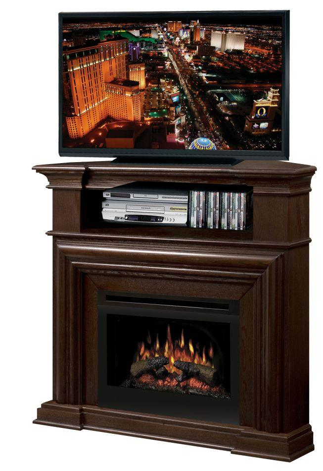 Montgomery Corner Media Console Fireplace With Logs By Dimplex Wolf And Gardiner Wolf Furniture