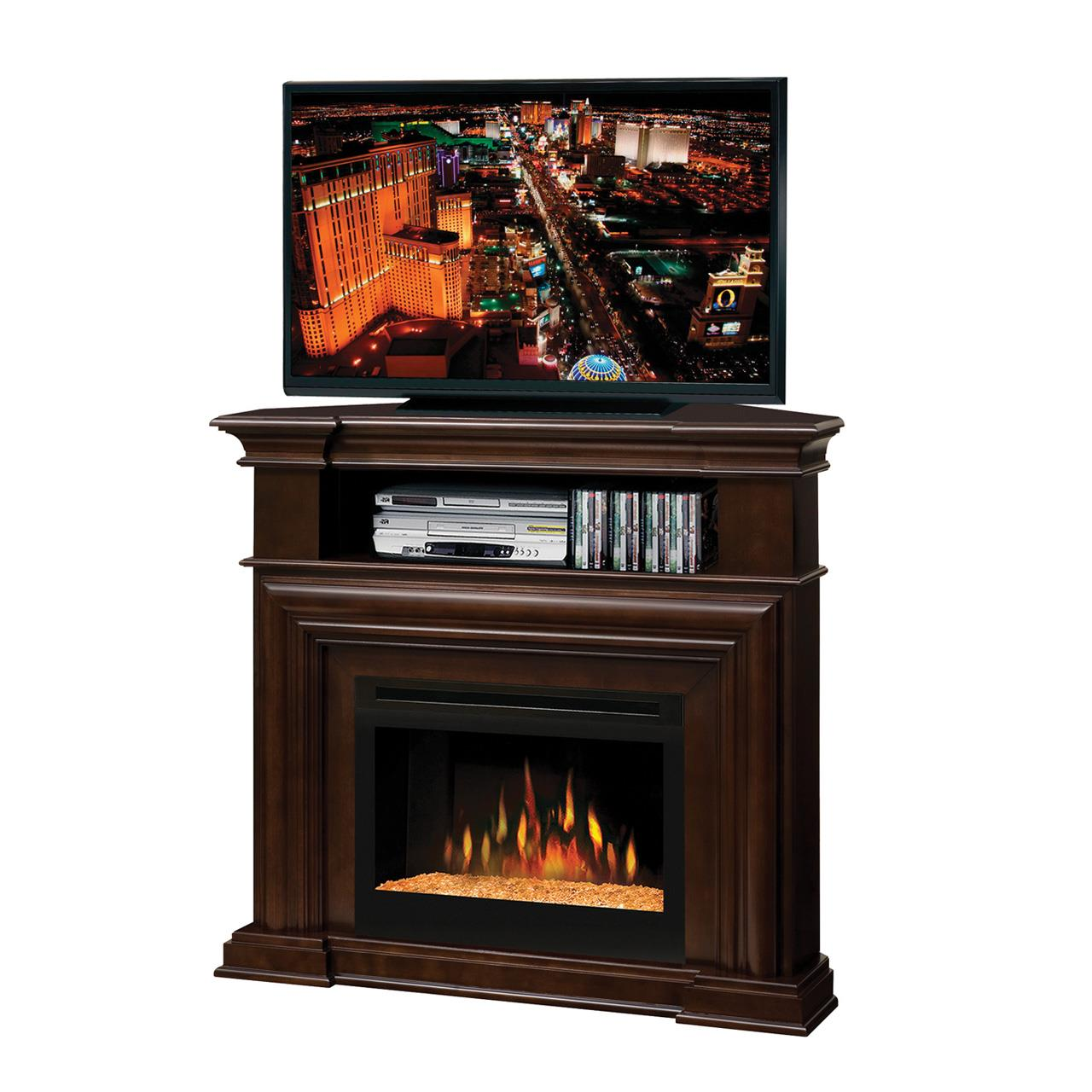 Complete Montgomery Media Console With Glass Fireplace By