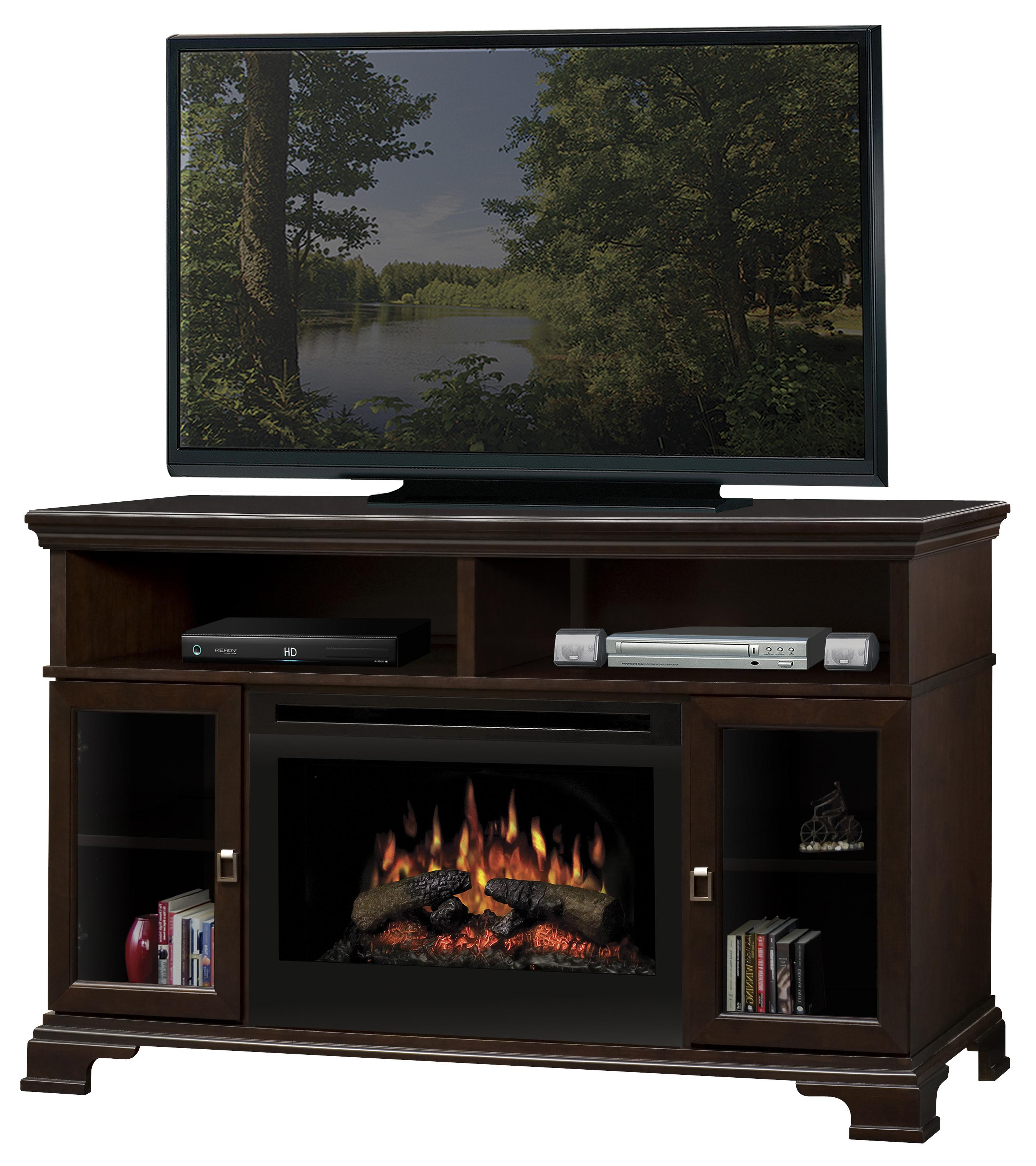 Brookings media console fireplace with logs by dimplex wolf and brookings media console fireplace with logs teraionfo