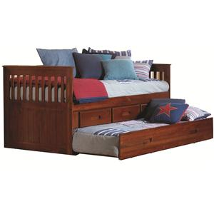 Discovery World Furniture Merlot Twin Captain's Bed