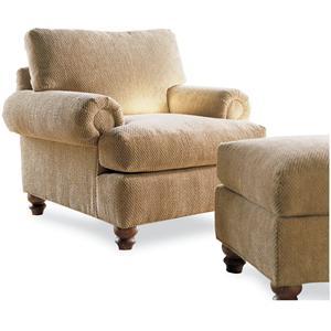 Drexel Heritage® Options Upholstery Program Customizable McDermott Chair and Ottoman