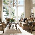Drexel Upholstered Accents Emilio Conversation Sofa - Shown in Room Setting