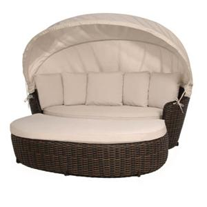 Ebel Dreux Daybed with Canopy and Ottoman Set