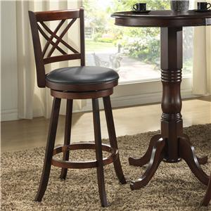 "E.C.I. Furniture Burnished Collection 24"" Swivel Counter Stool"