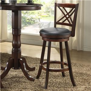 24 Walnut X Back Counter Stool By Eci Furniture Wolf And
