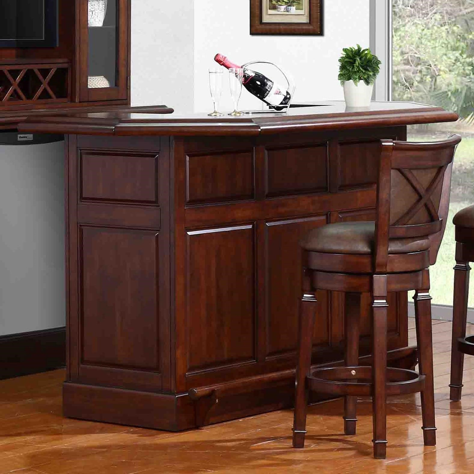 Bar with Built-In Wine Rack