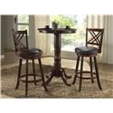 3pc Pub Table with Two 24 inch barstools