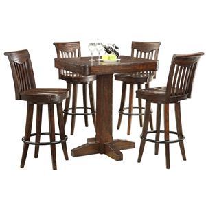 E.C.I. Furniture Gettysburg 5 Piece Pub Table and Stools