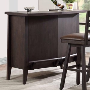 Serving Bar with Footrest and Wine Rack