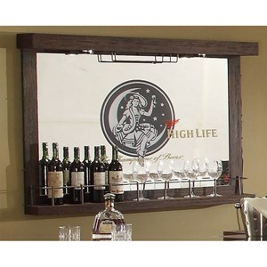 Miller High Life Mirror Wall Bar