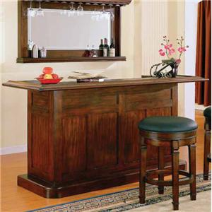 Classic Bar with Drawer and Door Storage