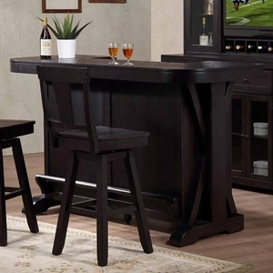 Bar with a Wine Rack and Foot Rest